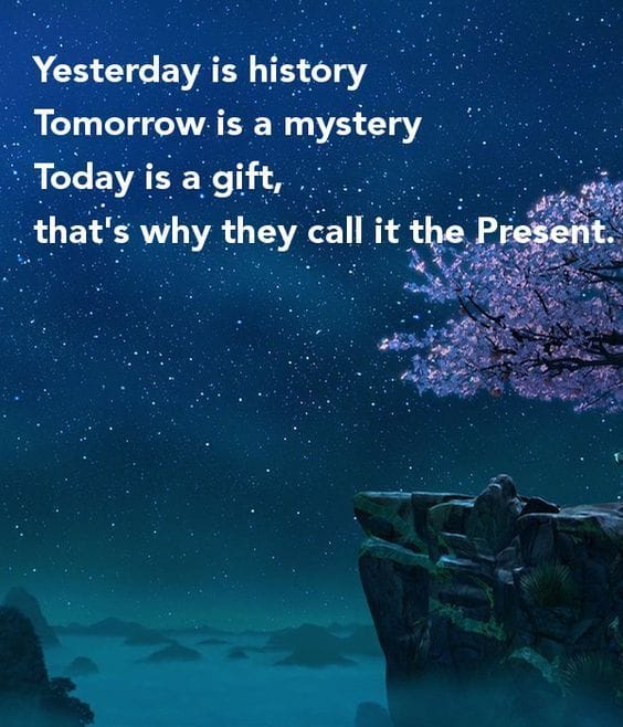That's Why They Call It The Present