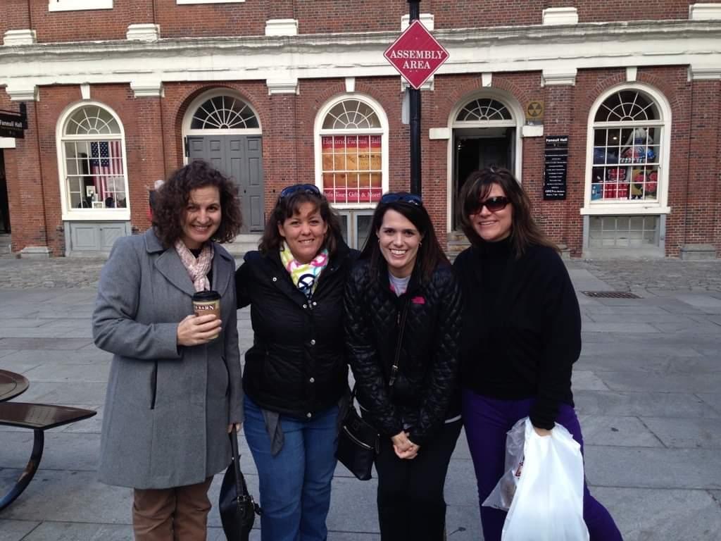 Living LFS in the making: (L-R) Ann Ramer, Jen Mallory, DeAnn Mooney, Trishia Shelly-Stephens in Boston, 2013.