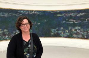 Jennifer Mallory and Monet's Water Lillies